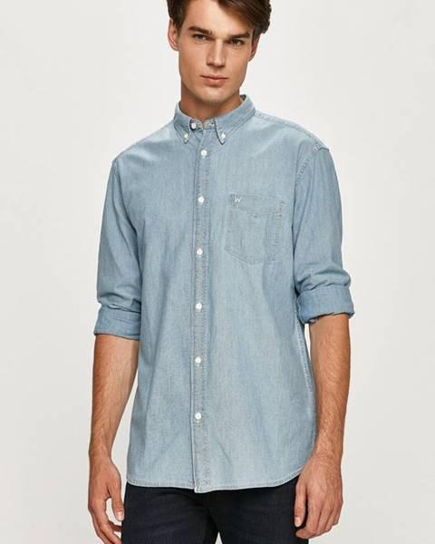 Modrá košile wrangler