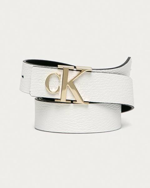 Bílý pásek calvin klein jeans
