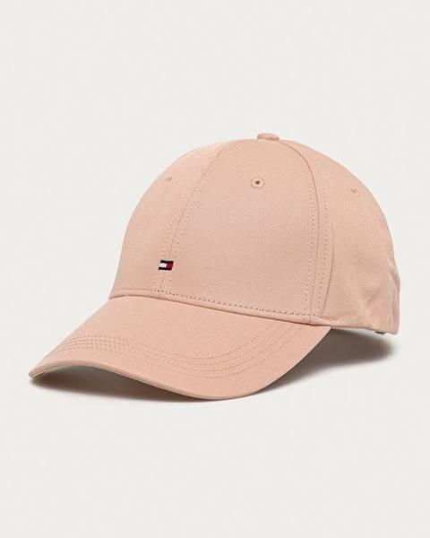 Růžová čepice tommy hilfiger