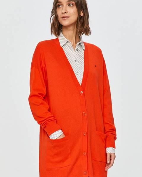 Oranžový svetr tommy hilfiger