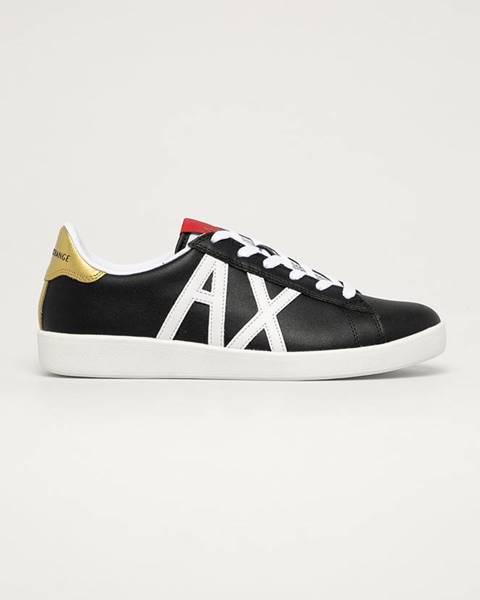 Černé boty Armani Exchange