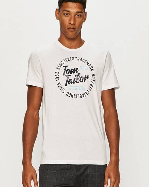 Bílé tričko tom tailor