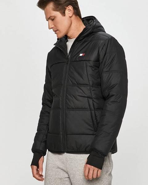 Černá bunda Tommy Sport