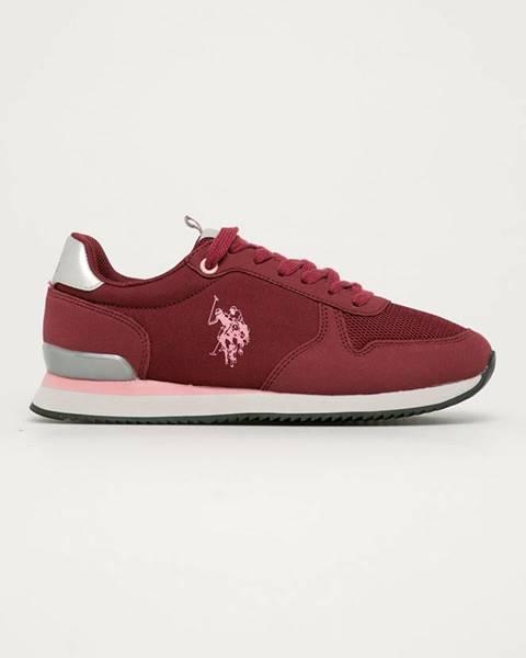Červené boty u.s. polo assn.