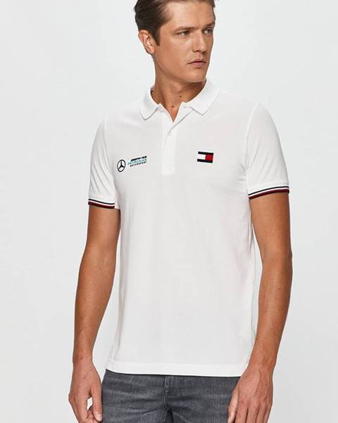 Bílé tričko Tommy Hilfiger Tailored