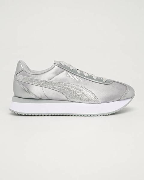 Stříbrné boty puma