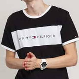 Tommy Hilfiger CN SS Tee ogo Flag černé