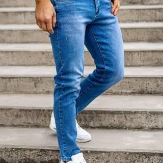 Tmavě modré pánské džíny skinny fit