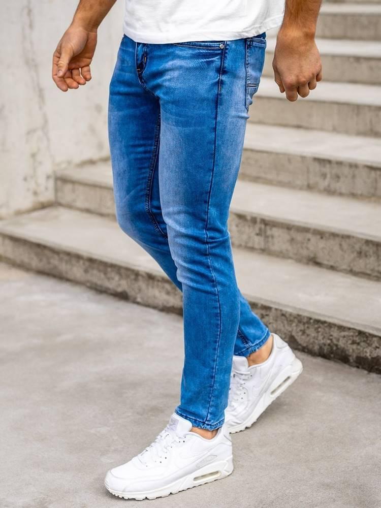 M.SARA Tmavě modré pánské džíny skinny fit