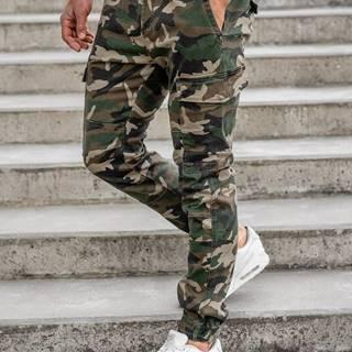 Khaki pánské jogger kapsáče