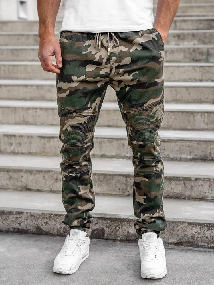 RESALSA Khaki pánské jogger kalhoty