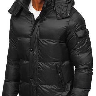 Černá pánská prošívaná zimní bunda