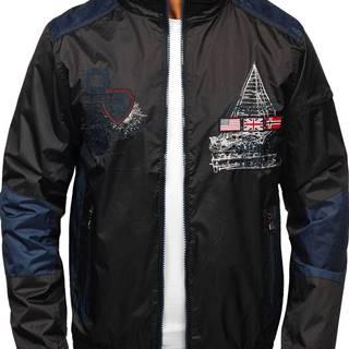 Černá pánská přechodová bunda