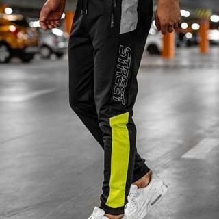 Černé pánské teplákové joggery