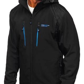 Černo-oránžová pánská softshellová bunda