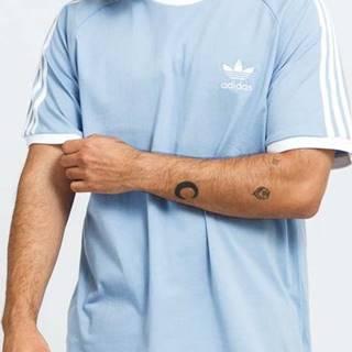 adidas Originals 3-Stripes Tee modré / bílé