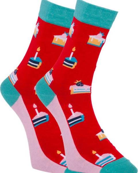 Červené spodní prádlo Dots Socks
