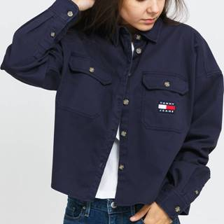 TOMY JEANS Cropped Utility hirt navy