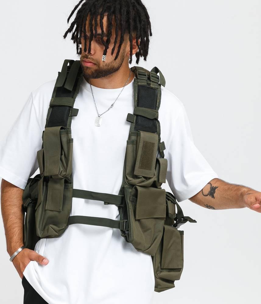 Urban Classics Tactical Vest olivová