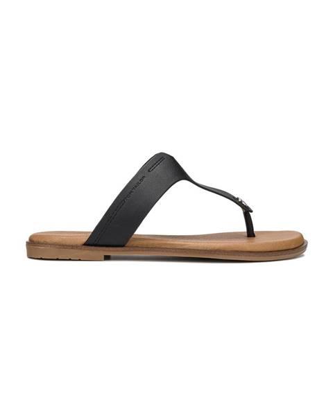 Černé pantofle tom tailor
