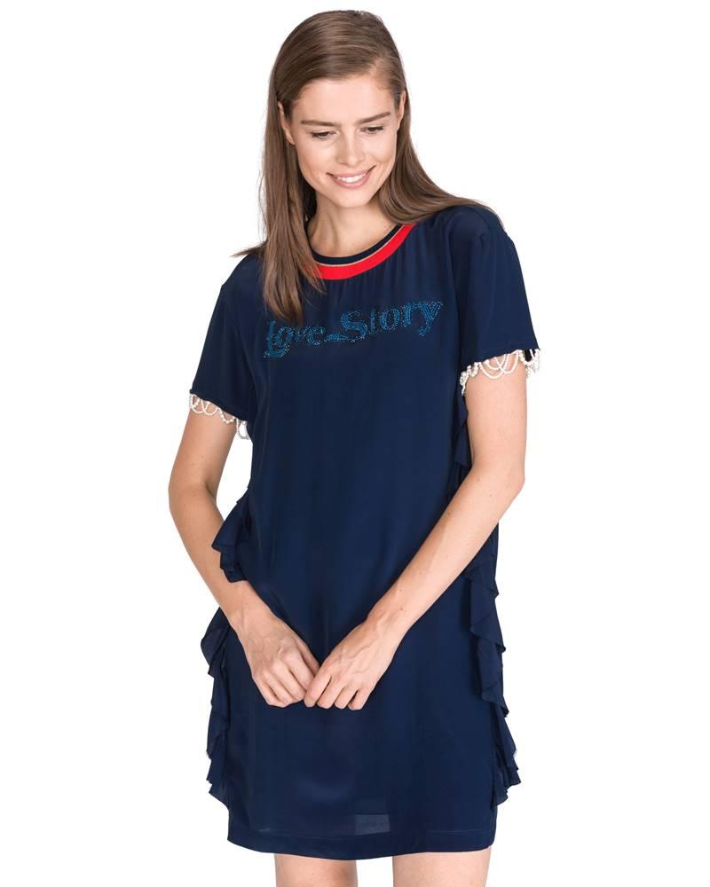 Pinko Pinko Lantana Šaty Modrá