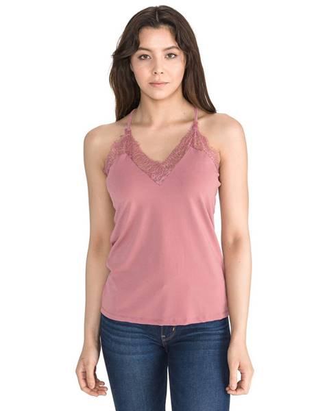Růžový top vero moda