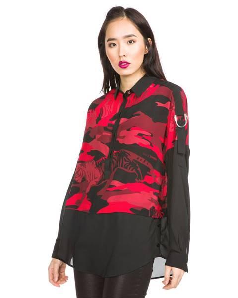 Černá červený top Versace Jeans