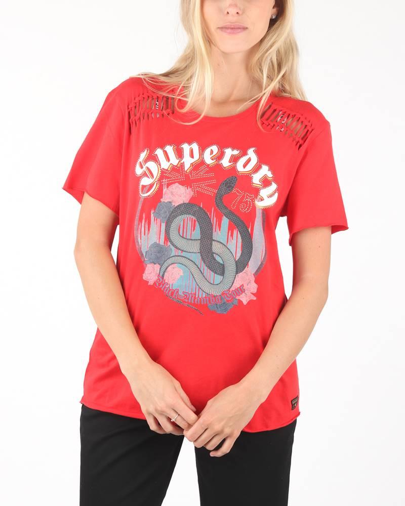 SuperDry Triko Červená