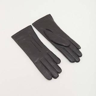 Dámské černé kožené rukavice DD6926438HDK