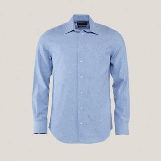Pánská košile s příměsí lnu PK6962051AYA