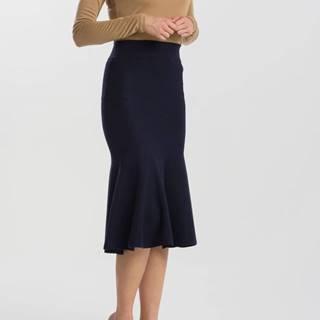 Sukně Gant O2. Flared Merinoblend Skirt