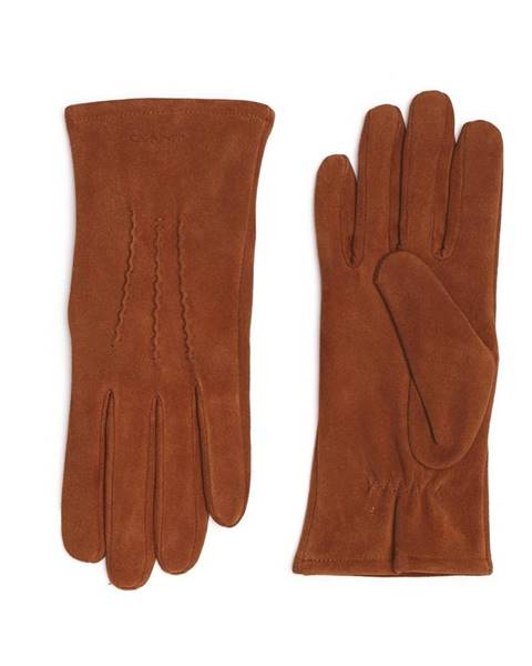 Hnědé rukavice gant