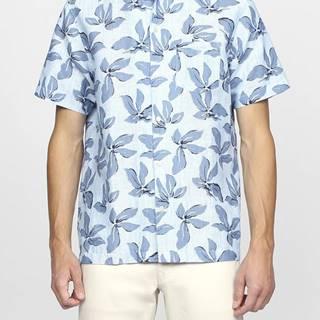 Košile Gant O2.Linen Petal Print Reg Ss Riviera