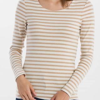 Tričko Gant Striped 1X1 Rib Ls T-Shirt