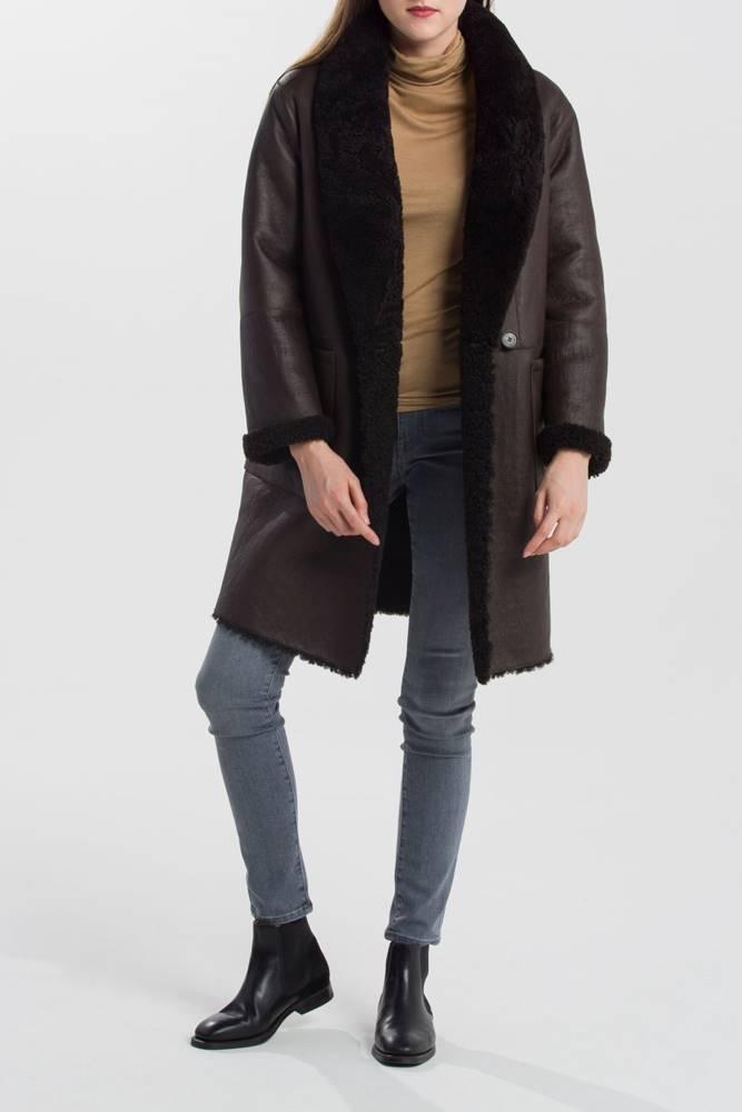 gant Kabát Gant G2. Reversible Shearling Coat
