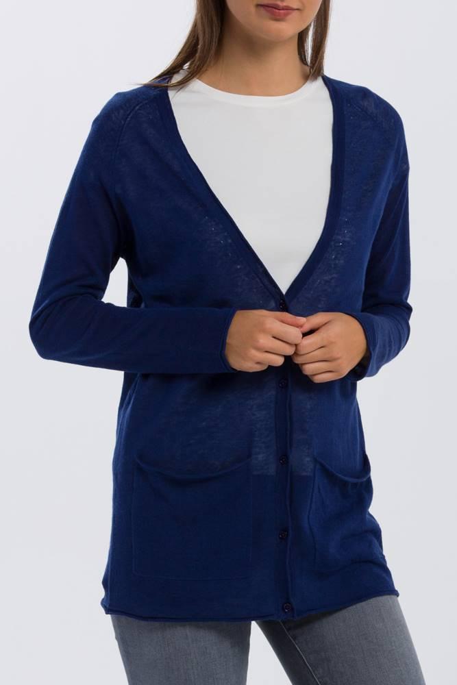 gant Svetr  O2. Fine Knit Linen Cardigan