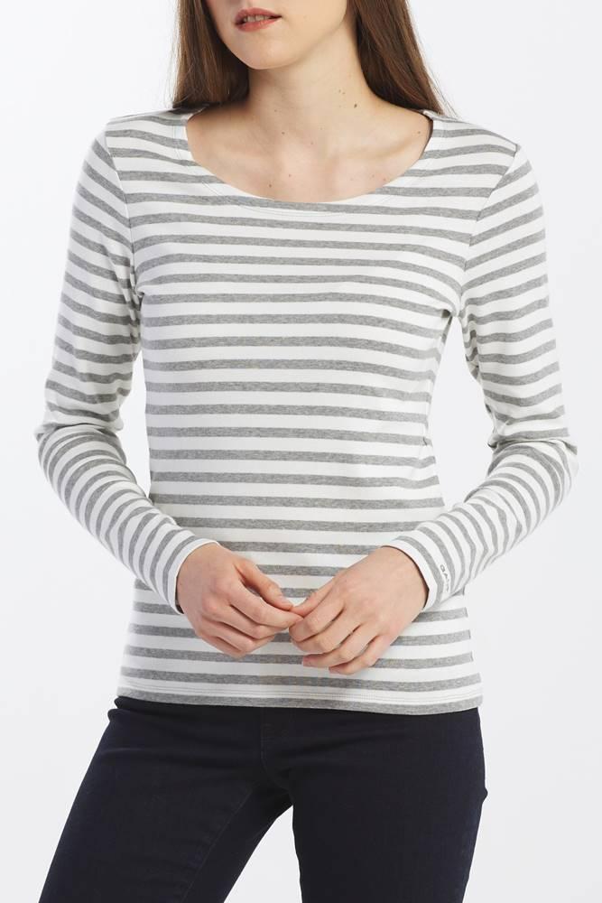 gant Tričko Gant 1X1 Rib Ls T-Shirt