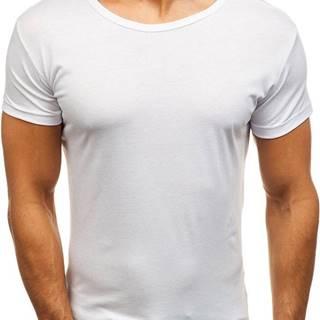 Pánské bílé tričko bez potisku