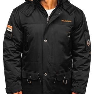 Černá pánská zimní bunda