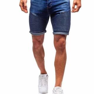 Tmavě modré pánské džínové kraťasy