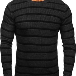 Grafitový pánský svetr
