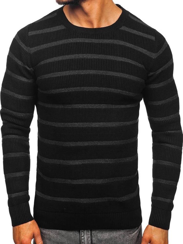 MADMEXT Černý pánský svetr