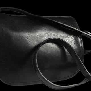 Černá kožená kabelka přes rameno Floriano Nero