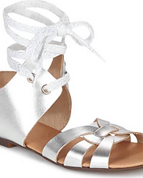 Stříbrné sandály Ippon Vintage