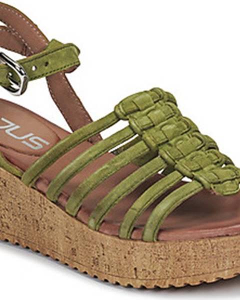 Zelené sandály Mjus