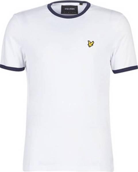 Bílé tričko Lyle & Scott