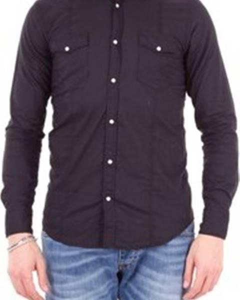 Černá košile Messagerie