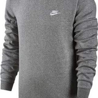 Nike Mikiny Sportswear Crew Fleece Club Grey