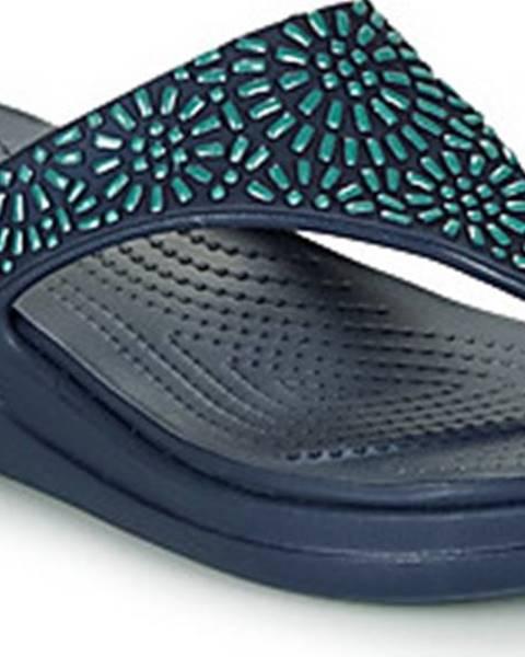Modré pantofle crocs