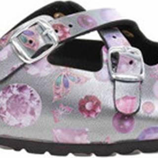 Bio Life Pantofle Dámské pantofle 0128 antra Lola 382 Fialová